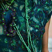 Одежда handmade. Livemaster - original item Dress LIANA silk and wool. Handmade.