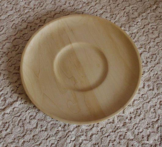 Тарелки ручной работы. Ярмарка Мастеров - ручная работа. Купить Деревянная тарелка из клена. Handmade. Бежевый, для росписи