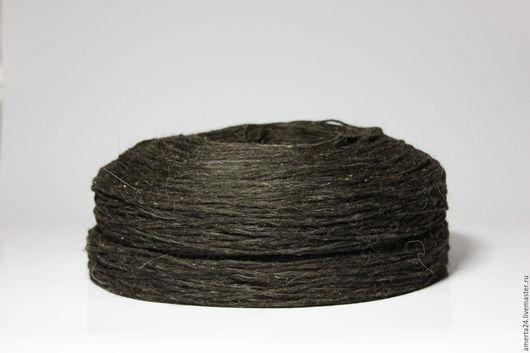 Вязание ручной работы. Ярмарка Мастеров - ручная работа. Купить Ровница шерстяная, темно-коричневая, вес 250 гр. Handmade.