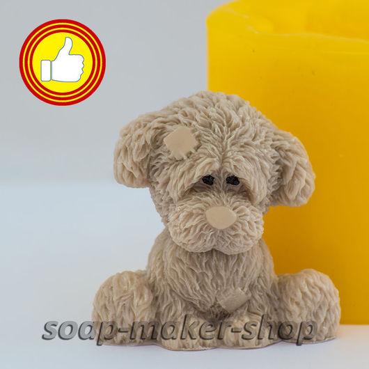 Материалы для косметики ручной работы. Ярмарка Мастеров - ручная работа. Купить Силиконовая форма для мыла «Грустный пёсик 3D». Handmade.