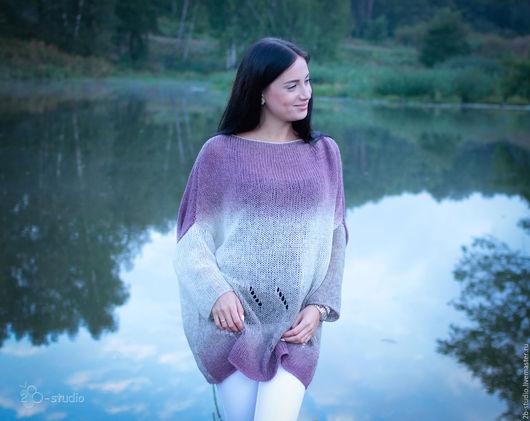 Большие размеры ручной работы. Ярмарка Мастеров - ручная работа. Купить Женский свитер Вязаный шерстяной свитер оверсайз Большие размеры. Handmade.