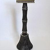 """Комплекты аксессуаров для дома ручной работы. Ярмарка Мастеров - ручная работа Титановая ручка и основание для Т-образной бритвы """"Старый бамбук 2"""". Handmade."""