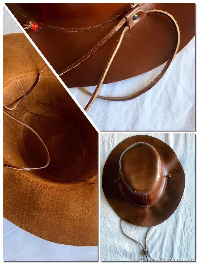 Ролевые игры ручной работы. Ярмарка Мастеров - ручная работа. Купить Головные уборы: шляпы из кожи. Handmade. Шляпа