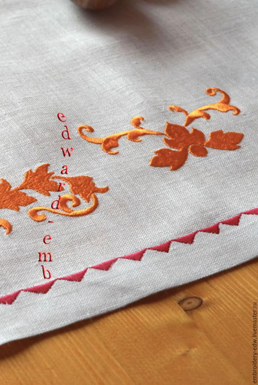Орнамент на скатерть вышивка