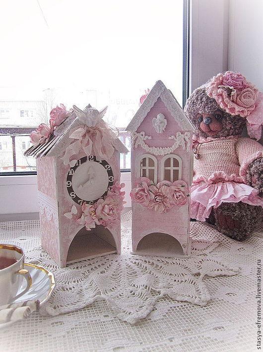Кухня ручной работы. Ярмарка Мастеров - ручная работа. Купить Шебби-домики для кухни. Handmade. Бледно-розовый, домик для кухни