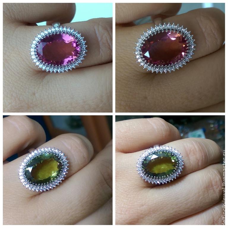 Серебряное кольцо с овальным султанитом, Кольца, Анталия, Фото №1