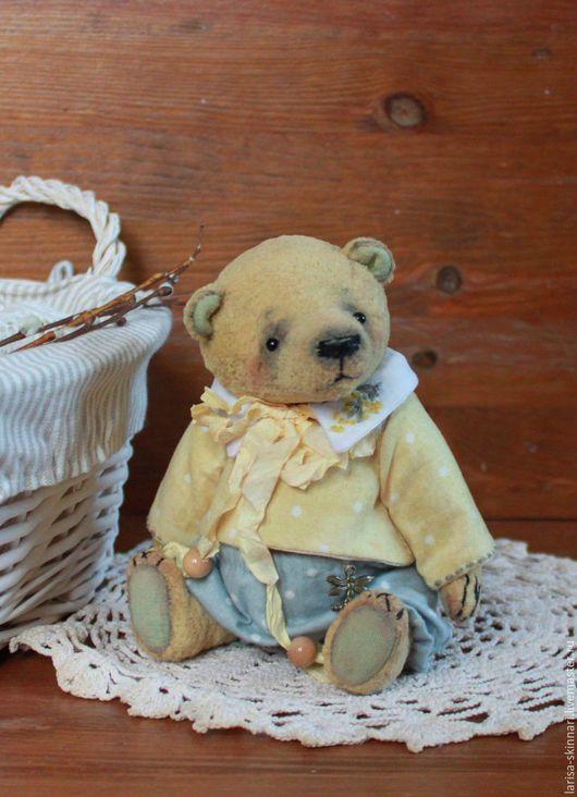 Мишки Тедди ручной работы. Ярмарка Мастеров - ручная работа. Купить Мимозка.. Handmade. Мишка, милый подарок, винтаж