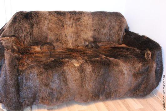 Текстиль, ковры ручной работы. Ярмарка Мастеров - ручная работа. Купить Плед из меха бобра. Handmade. Плед меховой, покрывало