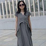Одежда handmade. Livemaster - original item Gray dress in the style boho. Handmade.