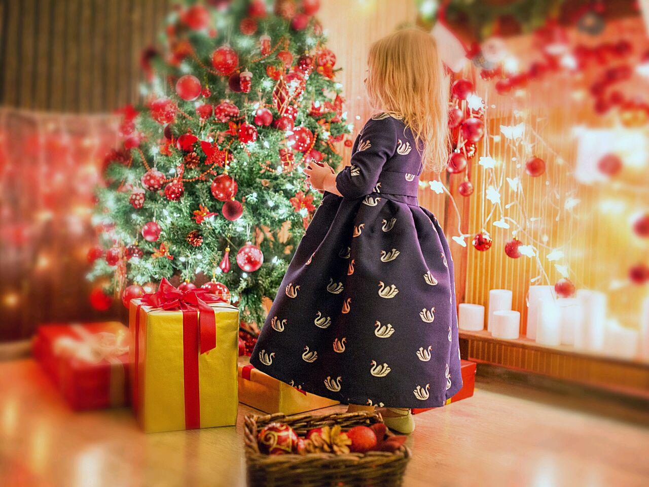 """Детское платье из набора фэмили лук""""Рождественское чудо"""", Платье, Москва,  Фото №1"""