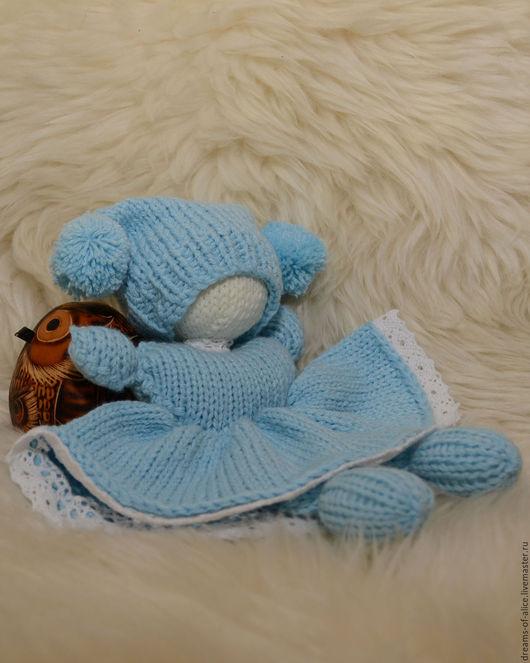 Вальдорфская игрушка ручной работы. Ярмарка Мастеров - ручная работа. Купить Вязаная вальдорфская куколка-бабочка. Handmade. Синий, для девочки