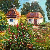 Картины и панно handmade. Livemaster - original item Oil painting solar farm. Handmade.