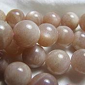 Материалы для творчества handmade. Livemaster - original item Oligoclase, natural Sunstone beads, smooth ball 10mm. Handmade.