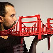 """Для дома и интерьера ручной работы. Ярмарка Мастеров - ручная работа Полка-мост """"Золотые Ворота"""" (Golden Gate Bridge) 119x28 см. Handmade."""