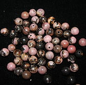 Материалы для творчества handmade. Livemaster - original item Rhodonite 6 mm ball smooth beads (natural stone). Handmade.