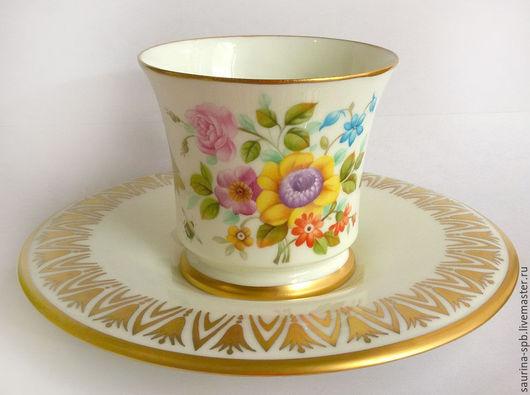 """Сервизы, чайные пары ручной работы. Ярмарка Мастеров - ручная работа. Купить Кофейная пара """" Весенний букет"""". Handmade."""