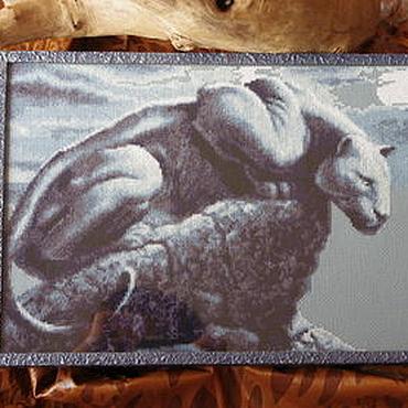"""Картины и панно ручной работы. Ярмарка Мастеров - ручная работа """"Под покровом ночи.""""Вышивка крестом,картины и панно. Handmade."""