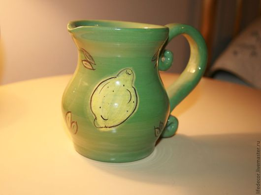 Графины, кувшины ручной работы. Ярмарка Мастеров - ручная работа. Купить кувшин ручной работы. Handmade. Зеленый, глина