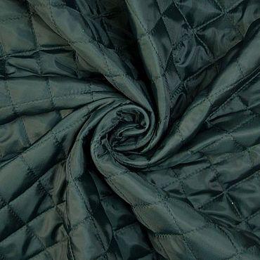 Materials for creativity handmade. Livemaster - original item Fabric: Italian quilted batting color dark green. Handmade.