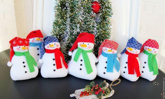 Куклы Тильды ручной работы. Ярмарка Мастеров - ручная работа. Купить Снеговик. Handmade. Снеговик, снеговик из флиса, снеговик подарок