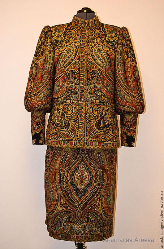 """Верхняя одежда ручной работы. Ярмарка Мастеров - ручная работа. Купить Куртка из платка """"Таинственный вечер"""".. Handmade. Орнамент"""
