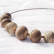 Украшения handmade. Livemaster - original item Stone wave, necklace, lampwork. Handmade.