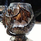 """Бокалы ручной работы. Ярмарка Мастеров - ручная работа Бокалы """"Логово дракона"""". Handmade."""
