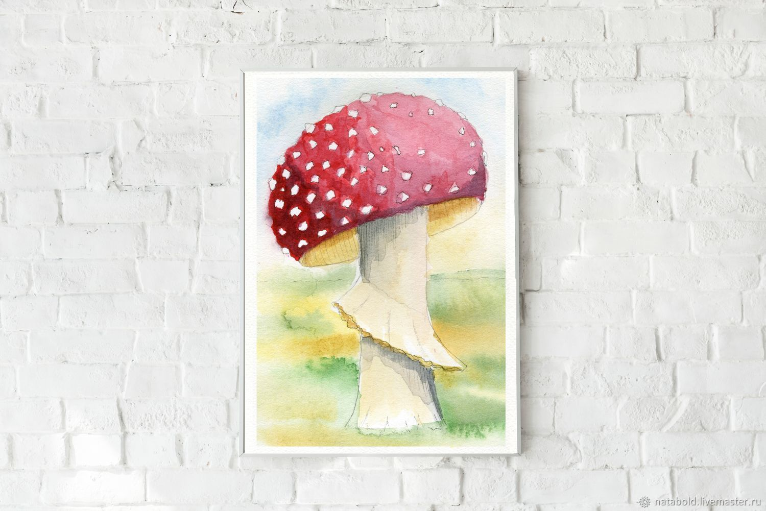 Watercolor Fly Agaric, Pictures, Rostov-on-Don,  Фото №1