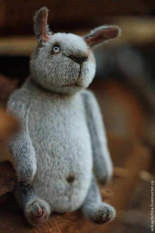 """Мишки Тедди ручной работы. Ярмарка Мастеров - ручная работа. Купить Кроль """"Русик"""". Handmade. Серый, лесной житель"""