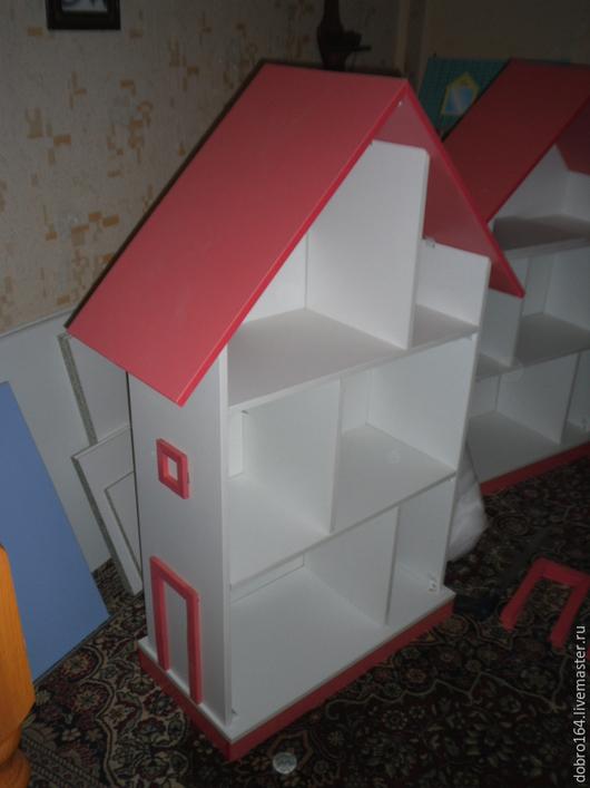 Кукольный дом ручной работы. Ярмарка Мастеров - ручная работа. Купить КУКОЛЬНЫЙ ДОМИК № 4. Handmade. Коралловый