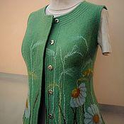 "Одежда handmade. Livemaster - original item Валяный жилет ""Улыбка лета"". Handmade."