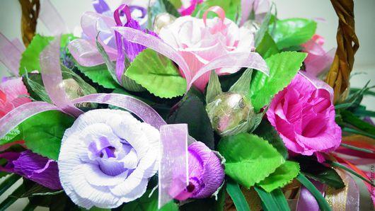 """Букеты ручной работы. Ярмарка Мастеров - ручная работа. Купить Букет из конфет """"Весенний вальс"""". Handmade. Разноцветный, вкусный подарок"""