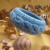 """Украшения ручной работы. Ярмарка Мастеров - ручная работа Браслет вязаный """"Голубая лагуна"""". Handmade."""