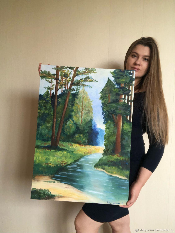 Картина маслом  « Лес», Картины, Армавир,  Фото №1