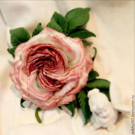 """Цветы ручной работы. Ярмарка Мастеров - ручная работа. Купить Роза из шелка """"Gentle dreams"""".. Handmade. Бледно-розовый"""