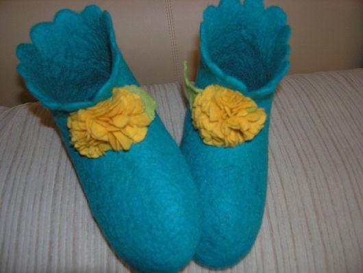 Обувь ручной работы. Ярмарка Мастеров - ручная работа. Купить Домашние тапочки. Handmade. 100% шерсть