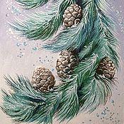 """Картины и панно ручной работы. Ярмарка Мастеров - ручная работа картина """"Цветы Зимы"""". Handmade."""