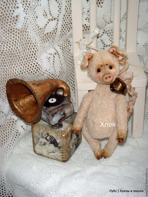 Teddy-pig Chloe, Stuffed Toys, Zelenograd,  Фото №1