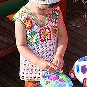 """Работы для детей, ручной работы. Ярмарка Мастеров - ручная работа Туника """"Бабушкин квадрат"""". Handmade."""