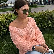 Одежда handmade. Livemaster - original item Mohair sweater orange
