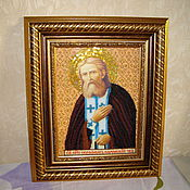 Картины и панно handmade. Livemaster - original item The icon of St. Seraphim of Sarov. Handmade.