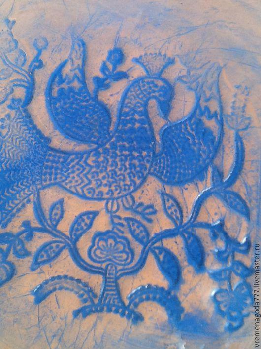 Тарелки ручной работы. Ярмарка Мастеров - ручная работа. Купить Синяя птица,ультрамариновая большая тарелка. Handmade. Тёмно-синий