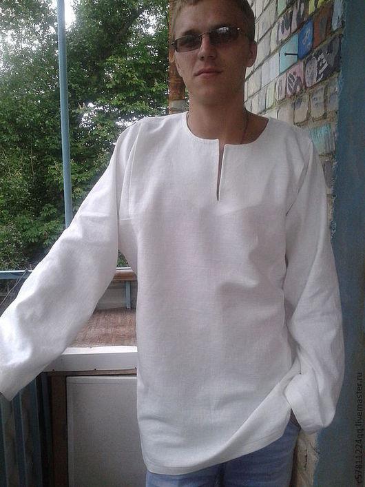 Для мужчин, ручной работы. Ярмарка Мастеров - ручная работа. Купить Рубаха русская под вышивку.. Handmade. Белый