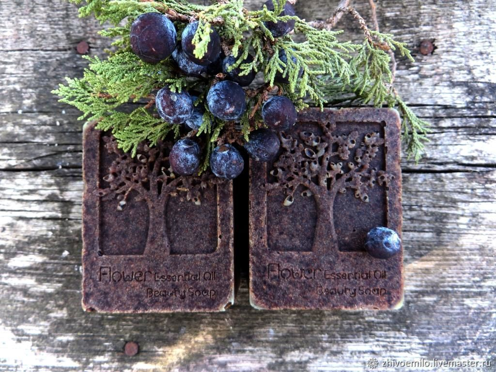 Soap from scratch JUNIPER bath phyto-soap with silk and spirulina, Soap, Anapa,  Фото №1