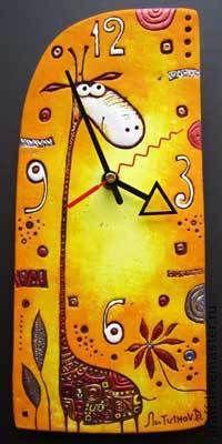 Часы для дома ручной работы. Ярмарка Мастеров - ручная работа. Купить Жирафф. Handmade. Часы, часы настенные, часы интерьерные