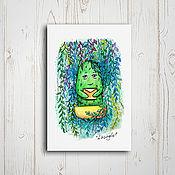 Открытки ручной работы. Ярмарка Мастеров - ручная работа Почтовая открытка - лесной привет. Handmade.