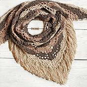 Аксессуары handmade. Livemaster - original item Bactus shawl knitted openwork with fringe
