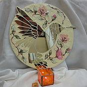 """Для дома и интерьера ручной работы. Ярмарка Мастеров - ручная работа Зеркало-вешалка """"Колибри"""". Handmade."""