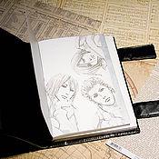 """Канцелярские товары ручной работы. Ярмарка Мастеров - ручная работа Блокнот """"This is a fantasy based on reality"""". Handmade."""