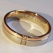 Кольца ручной работы. Ярмарка Мастеров - ручная работа Золотое кольцо с бриллиантами. Handmade.